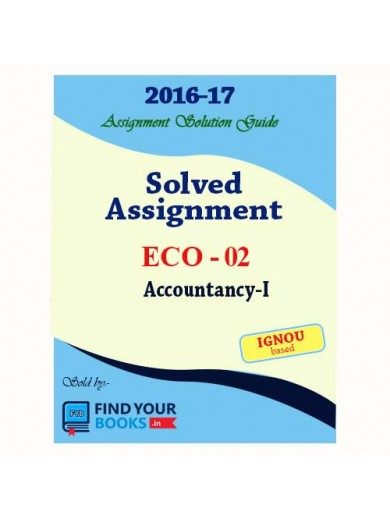 ECO-2 in English Solved Assignments-2017