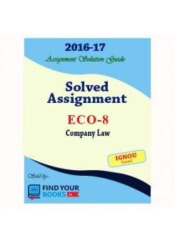 ECO-8 in English Solved Assignments-2017