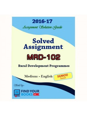 MRD-102 IGNOU Solved Assignment-2017 in English Medium