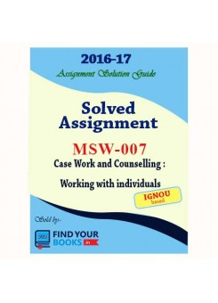 MSW-7 IGNOU Solved Assignment-2017 in English Medium