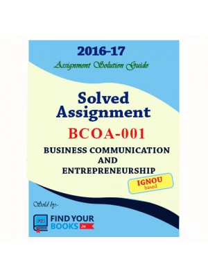 IGNOU BCOA-1 Solved Assignments-2017