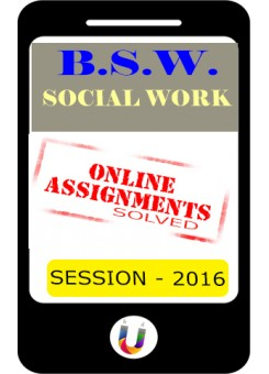 BSWE-1 Solved Assignment in English - 2016