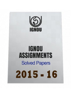 MSW-3-English IGNOU Solved Assignment 2015-16