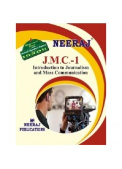 IGNOU : JMC- 1 Into. To Journalism & Mass Communication in ENGLISH