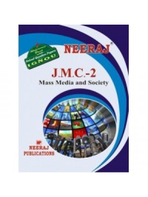 JMC - 2 Mass Media & Society  - IGNOU Guide Book For JMC2 - English Medium