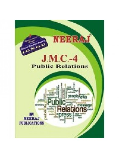 JMC - 4 Public Relations - IGNOU Guide Book For JMC4 - English Medium
