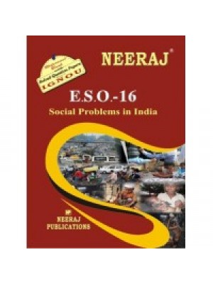 IGNOU : ESO - 16 Social Problems In India (ENGLISH)