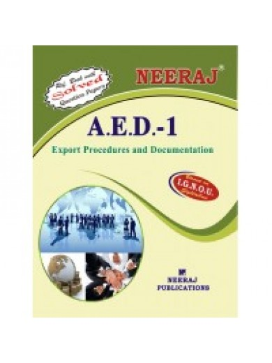 AED-1 IGNOU Solved Assignment - Export Procedures And Documentation in Hindi 2016