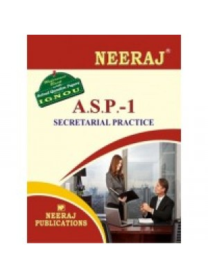 ASP Secretarial Practice IGNOU Guide Book For ASP ( English Medium )