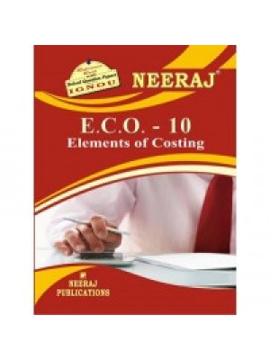 ECO-10 Elements Of Costing - IGNOU Guide Book For ECO10 - English Medium