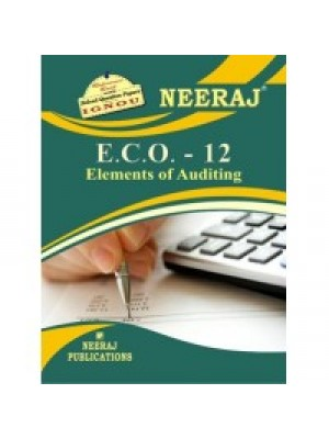 ECO-12 Elements Of Auditing - IGNOU Guide Book For ECO12 - English Medium