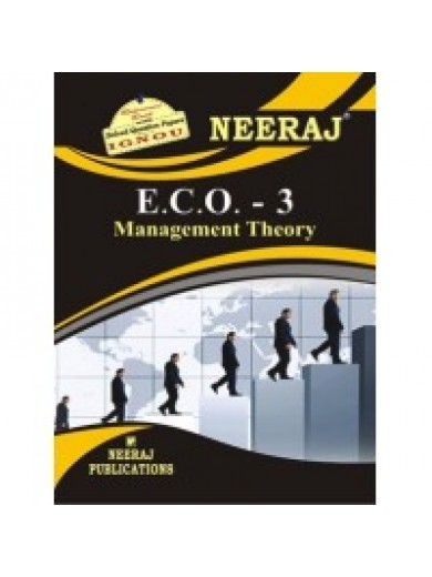 ECO-3 Management Theory  - IGNOU Guide Book For ECO3 - English Medium