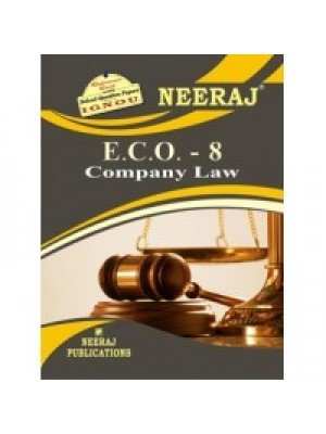 ECO-8 Company Laws  - IGNOU Guide Book For ECO8 - English Medium