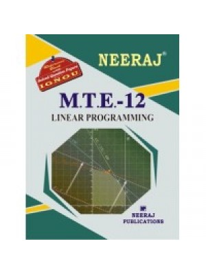 IGNOU : MTE - 12 Linear Programming