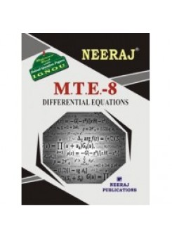 IGNOU : MTE- 8 Differential Equations