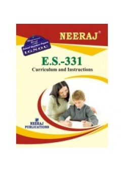 IGNOU : ES - 331 Curriculum And Instructions (ENGLISH)