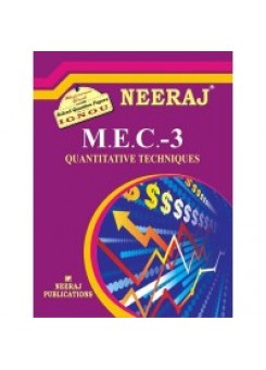IGNOU : MEC - 003 QUANTITATIVE METHODS (ENGLISH)