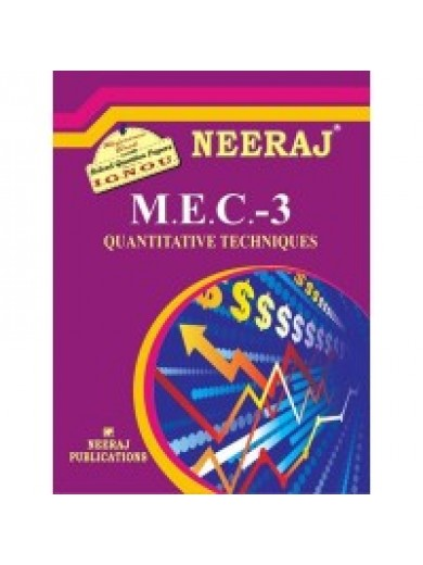 IGNOU : MEC - 003 QUANTITATIVE METHODS (HINDI)