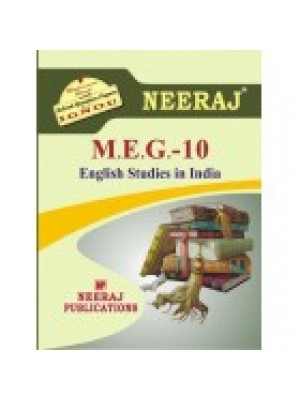 MEG-10 ENGLISH STUDIES IN INDIA - IGNOU guide Book For MEG10