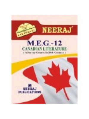 MEG-12 CANADIAN LITERATURE - IGNOU Guide Book For MEG12