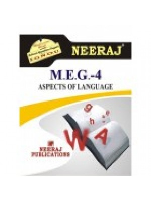 MEG-4 Aspects Of Language - IGNOU Guide Book For MEG4
