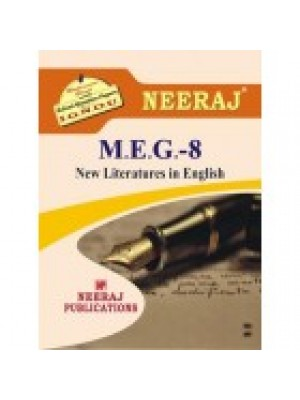 IGNOU : MEG-8 NEW LITERATURE IN ENGLISH