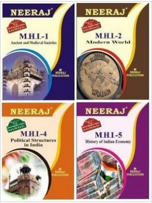 IGNOU MHI1, MHI2, MHI4 & MHI5 in English Medium - MA History 1st Year Reference Books Comb