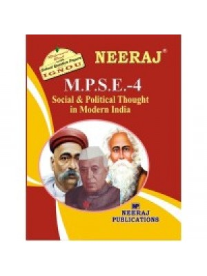 IGNOU : MPSE - 4 Modern Indian Social & Political Thought (ENGLISH)