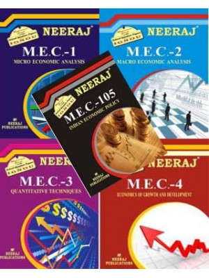 IGNOU MA Economics First Year - Reference Books in English Medium Combo