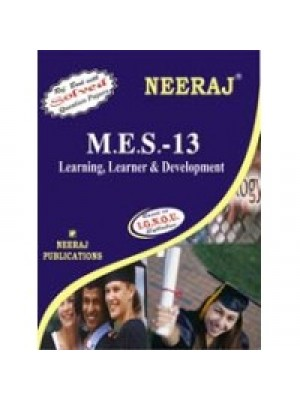 MES - 013 LEARNING, LEARNER & DEVELOPMENT IGNOU Guide For MES-013  ( English Medium )