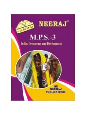 MPS3 - IGNOU Guide Book For India : Democracy And Development - English Medium