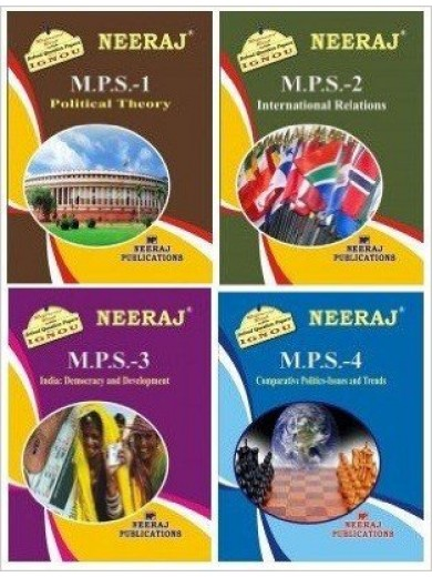 IGNOU : MPS-1, MPS-2, MPS-3,MPS-4 in English Medium -Combo