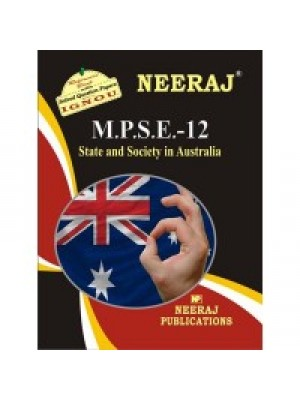 MPSE-12 STATE & SOCIETY IN AUSTRALIA ( IGNOU Guide Book For MPSE-12 ) ( English Medium )