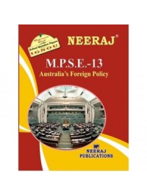 IGNOU : MPSE-13 Australia's Foreign Policy (ENGLISH)
