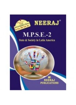 IGNOU : MPSE - 2 STATE & SOCIETY IN LATIN AMERICA (ENGLISH)