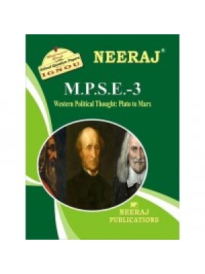 MPSE3 - IGNOU Guide Book For Western Political Thought - English Medium