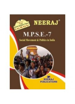 IGNOU : MPSE - 7 Social Movement & Policy In India (ENGLISH)