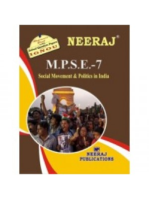 MPSE7 - IGNOU Guide Book For Social Moments And Polity In India - English Medium