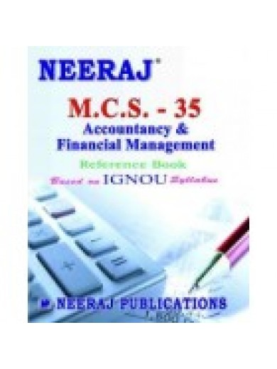 MCS - 035 Accounting And Financial Management - IGNOU Guide Book For MCS035 - English Medium