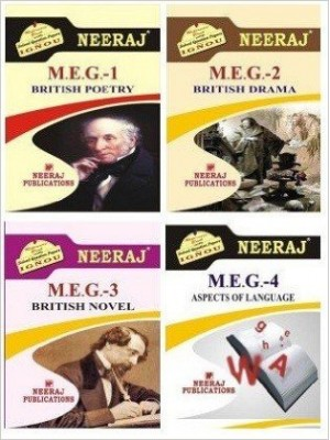 IGNOU MA First Year English Reference Books Combo with MEG 1,MEG 2,MEG 3 & MEG 4