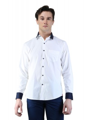 Magnoguy Men's Self Design Casual Shirt