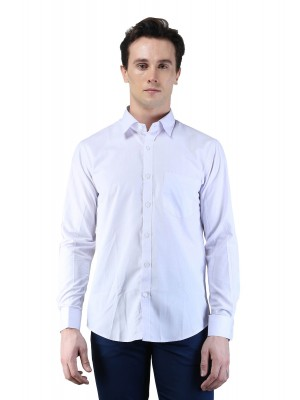 Magnoguy Men's Solid Formal Grey Shirt