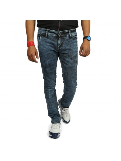 Royal Division OverDyed Random Black Slim Fit Men's Jeans