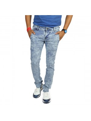 Royal Division OverDyed Random Blue Slim Fit Men's Jeans