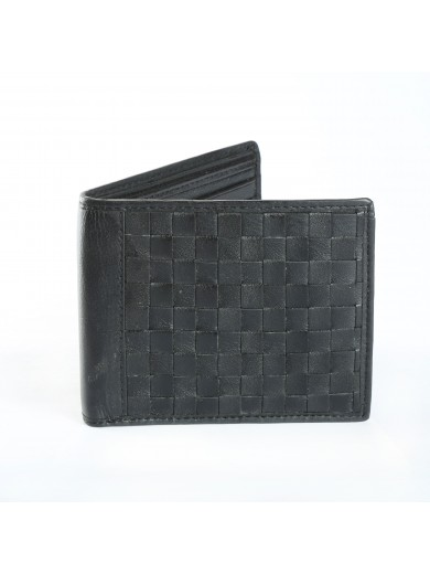 Fashion Star Black Genuine Leather Designer Wallet