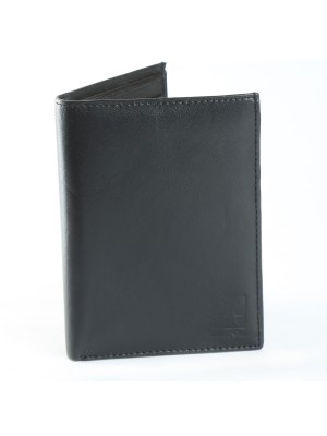 Fashion Star Black Genuine Leather Bifold Formal Wallet