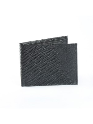 Fashion Star Black Stylish Leather Biofold Wallet