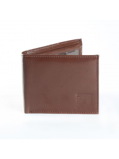 Fashion Star Classy Brown Leather Biofold Formal Wallet