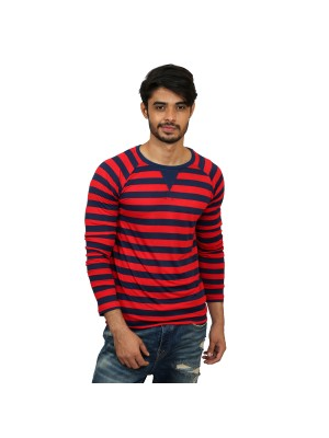 Solid Full Sleeve Red T-shirt -  Magnoguy