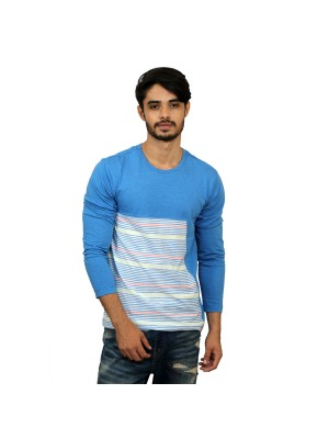 Solid Full Sleeve Light Blue T-shirt -  Magnoguy